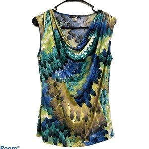 Jennie & Marlis multi color sleeveless blouse